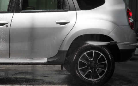 lavage haute-pression passage de roue